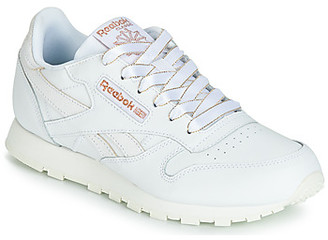 Reebok Classic CLASSIC LEATHER J girls's Shoes (Trainers) in White