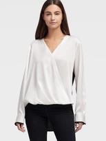 DKNY Long Sleeve Twist Front Blouse