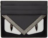 Fendi Black & Grey 'Bag Bugs' Card Holder