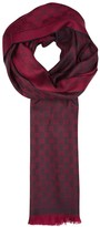 Gucci Dark Red Reversible Wool Scarf