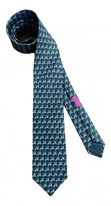 Hermes Black Silk Ties