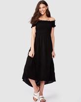 Supre Lennie Off-Shoulder Shirred Dress