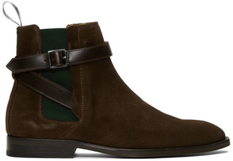 Paul Smith Brown Suede Harrow Chelsea Boots