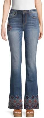 Driftwood Embellished Flared Jeans