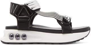 Nicholas Kirkwood Nkp3 Faux Pearl-inlay Leather Flatform Sandals - Silver
