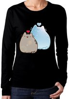 Pipilulu Pretty Women Pusheen Cat Inlove Tommy Cosplay Colleges T-shirts Long Sleeve