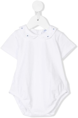 Siola Embroidered-Collar Shortie