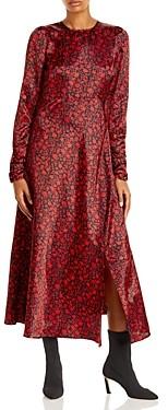 Aqua Floral Print Midi Dress -100% Exclusive