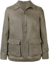 Lardini shirt jacket - men - Linen/Flax - 48