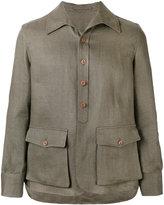Lardini shirt jacket - men - Linen/Flax - 54