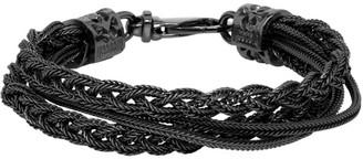 Emanuele Bicocchi Black Braided Bracelet