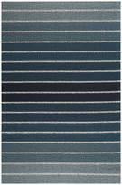 Chilewich Block Stripe Shag Rug - Denim - 61x91cm