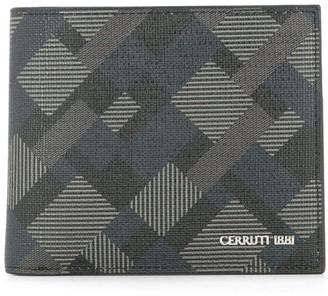 Cerruti geometric pattern bifold wallet