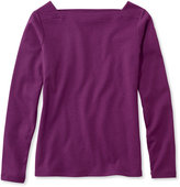 L.L. Bean Bean's Square Boatneck Pullover, Long-Sleeve