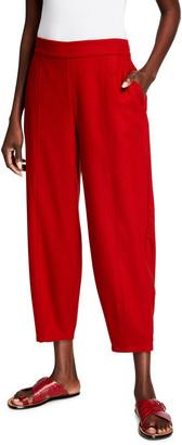 Eileen Fisher Soft Wool Flannel Lantern Ankle Pants