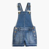 J.Crew Girls' stretch denim shortalls