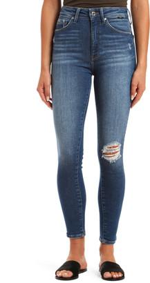 Mavi Jeans Scarlett Ripped Ankle Skinny Jeans