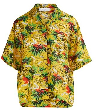 Roseanna Palm print blouse