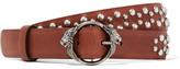 Roberto Cavalli Studded Leather Belt - Brown