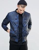 N1sq Camo Print Bomber Jacket