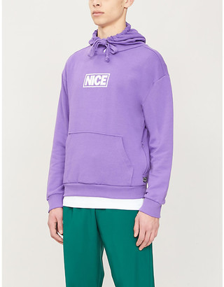 Mr Nice Brand-embroidered cotton-jersey hoody
