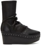 Rick Owens Black Sock Sabot Matt Boots