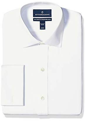 Buttoned Down Xtra-slim Fit Spread-collar French Cuff Non-iron Dress Shirt