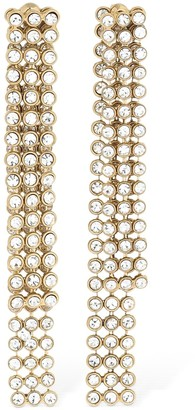 Etro Pave Crystal Double Earrings