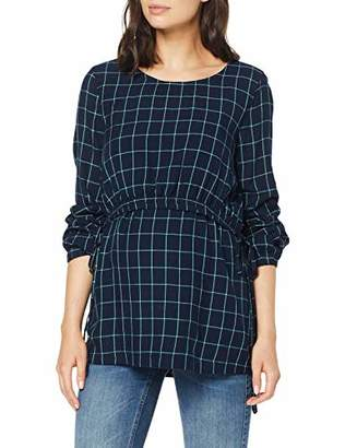 Esprit Women's Nurs Ls Yd Check Maternity Shirts and Blouses,(Size: 40)