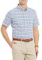Daniel Cremieux Plaid Oxford Short-Sleeve Woven Shirt