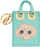 Sophie Hulme SSENSE Exclusive Blue Cloud Albion Tote Keychain