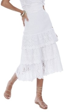 Allison New York Women's Tiered Eyelet Skirt