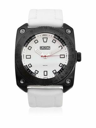 Munich Unisex Adult Analogue Quartz Watch with Rubber Strap MU+121.7A