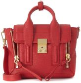 3.1 Phillip Lim Pashli Mini Satchel Red Tumbled Leather