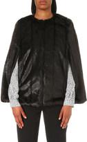 MICHAEL Michael Kors Quilted faux-fur cape