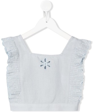 Stella McCartney Broderie Anglaise Crop Top