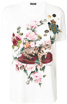 Dolce & Gabbana cat appliqué T-shirt