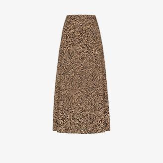Reformation Bea leopard print skirt