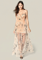 Bebe Marielle Embroidered Gown