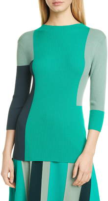 BOSS Frynlee Colorblock Ribbed Wool Sweater