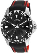 Invicta Men's Pro Diver Red Polyurethane Band Steel Case Quartz Watch 25473