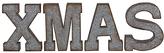 'XMAS' Letter Décor Set