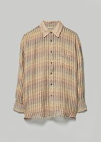 Our Legacy Men's Borrowed Shirt in Red Stripe Structure Size 46