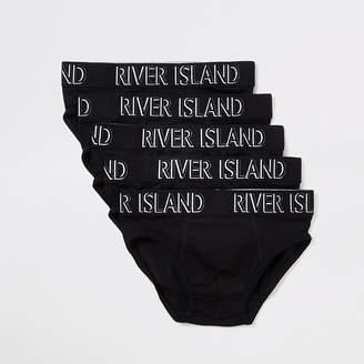 River Island Boys black RI briefs 5 pack
