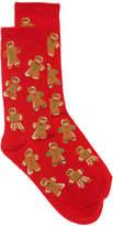 K. Bell Women's Gingerbread Women's's Crew Socks -Red