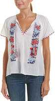 Tolani Embroidered Gauze Top