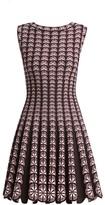 Alaia Campelle Degrade Flower Fit-&-Flare Dress