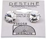 Crystallite Destine Clear Rivoli Earrings 11mm