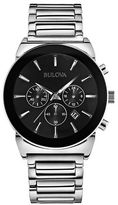 Bulova Mens Chronograph Stainless Steel Bracelet Watch