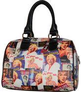 Monroe Women's Marilyn Forever Beautiful Collage Satchel Handbag MM612